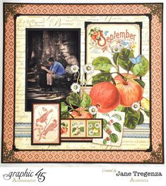 September Left Close up Time to Flourish double layout by Jane #graphic45