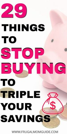 29 Things to Stop Buying to Save Money – The Frugal Mom Guide – Finance tips, saving money, budgeting planner Living On A Budget, Frugal Living Tips, Frugal Tips, Frugal Family, Best Money Saving Tips, Money Saving Challenge, Saving Money, Money Tips, Save Money On Groceries