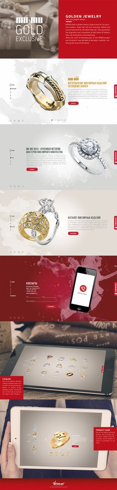#gold #jewelry #web #graphic #design MOMO Gold website graphic design