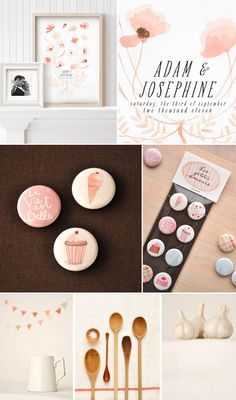 eva juiliet, graphic designer - soft colors, simple design, pretty typography