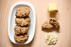 Cinnamon Oatmeal Cookies with White Chocolate