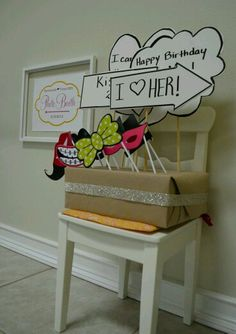 Diy photo booth props. Print out or draw