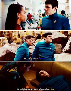 Of course Spock cares.