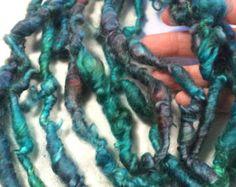 10 ft Art Yarn Remnant Coil BFL Mix Necklace Wrap Bracelet Craft  Boho Ren Faire Decor Weave Craft Supply Fiber Art Felt Knit Crochet Supply