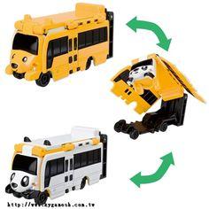 BANDAI 噗噗 變身車 FR14 小狗公車 貓熊公車