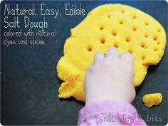 Homemade dough with natural dyes
