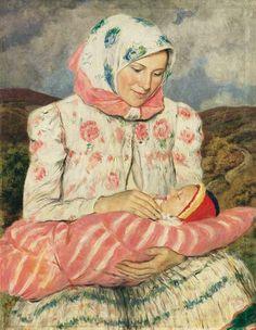 Glatz, Oszkár (1872-1958)  Mother with her Child  Date: 1936