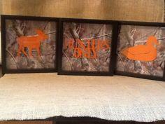 Camo hunting nursery decor on Etsy, $55.00