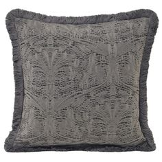 Astley Embossed Cushion Cover, Grey