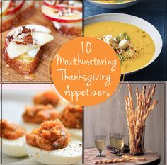 10 Mouthwatering Thanksgiving Appetizers - I'll make one of these for mom's and one for Uncle David & Auntie Donna's