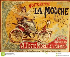 The Fly Buggy Vintage Car Posters Prints. The most luscious & desirable vintage poster prints you'll ever see! Specialists in beautiful & eclectic vintage images showcasing eye-catching styles & designs Vintage French Posters, French Vintage, French Art, Early French, Poster Mural, Kunst Poster, Poster Prints, Art Posters, Mucha Art Nouveau