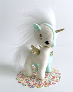 Felt Unicorn My Sweet Pony Gingermelon made to order