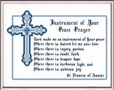 Peace Prayer cross stitch pattern by Crosstitch.com.