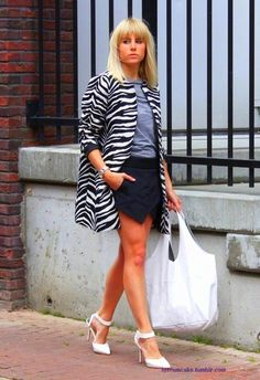zara skort + zebra stripes