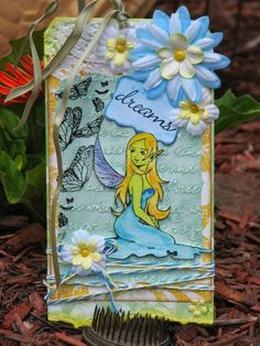 Fairy Dreams Mixed Media Tag Art - Sin City Stamps