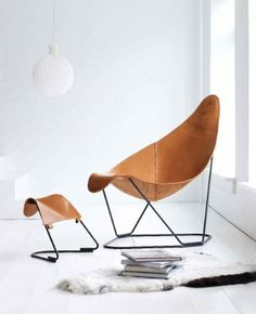 Butterfly-Chair / Interior * Minimalism by LEUCHTEND GRAU http://www.leuchtend-grau.de/2014/10/Butterfly-Chair.html