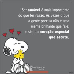 Mensagens Snoopy The Dog, Snoopy Love, Charlie Brown And Snoopy, Snoopy And Woodstock, Snoopy Quotes, Message Quotes, Life Words, Carpe Diem, Picture Quotes