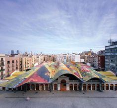 Enric Miralles- Santa Caterina Market, Barcelona, Spain.