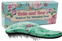 Bella and Bear Detangling Hair Brush the Best Detangler Brush for Wet or Dry Hair no more tangles no more tears Best Makeup Brushes, Makeup Brush Set, Nylons, Best Detangler, Stocking Stuffers For Teens, Hair No More, Detangling Hair Brush, No More Tears, Paddle Brush