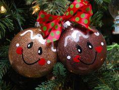 Gingerbread Face disc ornament SVG and DFX