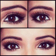 Eye Makeup plum and big eye lashes