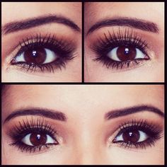 Eye Makeup plum and big eye lashes
