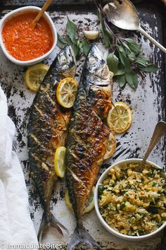Whole Grilled Mackerel – Fish – Seafood - Fish Recipes Fish Dishes, Seafood Dishes, Fish And Seafood, Seafood Recipes, Cooking Recipes, Healthy Recipes, Cooking Tips, Healthy Dishes, Grilling Recipes