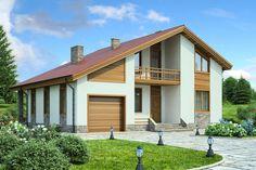 Проект дома 36-78 из газобетона – цены строительства в Москве   Технологии Домостроения