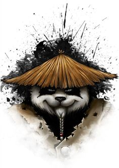 Panda by Paulo Roberto (Technically it's a pandaren, from World of Warcraft, but hey!)