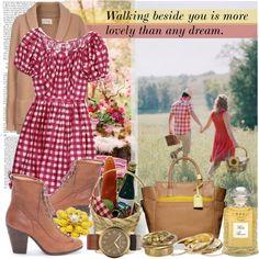 Walking beside you via Polyvore