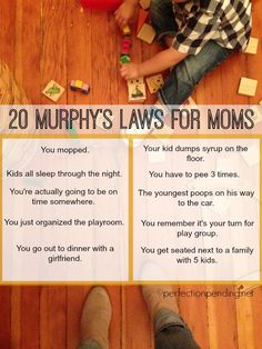 """Funny because it's TRUE! These 20 """"Murphy's Law"""" Scenarios for Moms Are a Huge Dose of Hilarious TRUTH"""