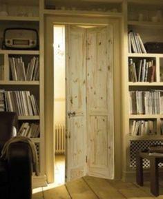 Wood-Internal-Door-4-Panel-Bi-Folding-Pine-Wardrobe-Doors-Room-Divider-En-suite