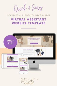 Need a beautiful website design for your virtual assistant website? This template is super easy and quick to use through Elementor and WordPress. Your website and virtual assistant business can be up and running within minutes! Va Website, Website Layout, Web Layout, Home Based Business, Online Business, Beautiful Website Design, Health And Wellness Coach, Virtual Assistant Services, Wordpress Website Design