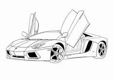 ausmalbilder autos lamborghini 01   autos malen, auto zum