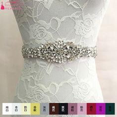 Find More Bridal Blets Information about Sparkling diamond wedding dress bow…