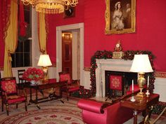 The Red Room at the White House