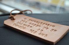 DIY Embossed leather luggage tag