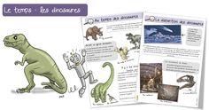 Les dinosaures : documentaire Voici les premières fiches d'une longue série : les fiches » DDM temps » ou histoire en lien avec «Le loup qui voyageait dans…