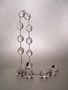 Antique Victorian Pools of Light Necklace of Rock Crystals.