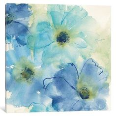 """East Urban Home 'Seashell Cosmos II' Painting Print on Wrapped Canvas Size: 37"""" H x 37"""" W x 0.75"""" D"""