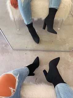 Women shoes High Heels - - - Women shoes Slip On Casual - - Women shoes Comfy High Heel Boots, Heeled Boots, Bootie Boots, Shoe Boots, High Heels, Women's Shoes, Shoes Style, Bootie Heels, Shoes Men
