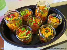 Canning pickled peppers