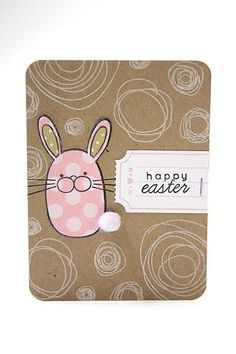 Happy Easter Journal Card by Heather Nichols for Papertrey Ink (February 2014)