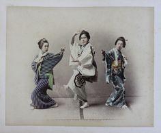 JAPAN - C1880 Three Girls dancing
