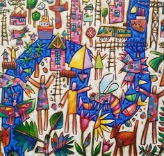"""""""Garden Cruise"""" 120cm x 140cm. For more information please contact REDSEA Gallery on (07) 3162 2230 © Bruce Earles"""