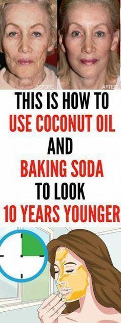 Let Start Slim Today: This Is How To Use Coconut Oil And Baking Soda To look 10 . Let Start Slim Today: This Is How To Use Coconut Oil And Baking Soda To look 10 years younger Natural Facial Cleanser, Natural Face, Face Cleanser, Natural Beauty, Natural Makeup, Organic Beauty, Health Tips For Women, Health And Beauty, Beauty Care