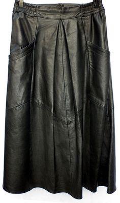 Schöner LEDERROCK Gr 40 schwarz Nappaleder