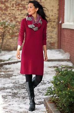 wool/cashmere dress