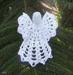 Crochet Angel Christmas Ornament ~ Free Crochet Patterns