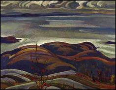 North Shore, Lake Superior oil on canvas  signed and on verso signed, dated 1926